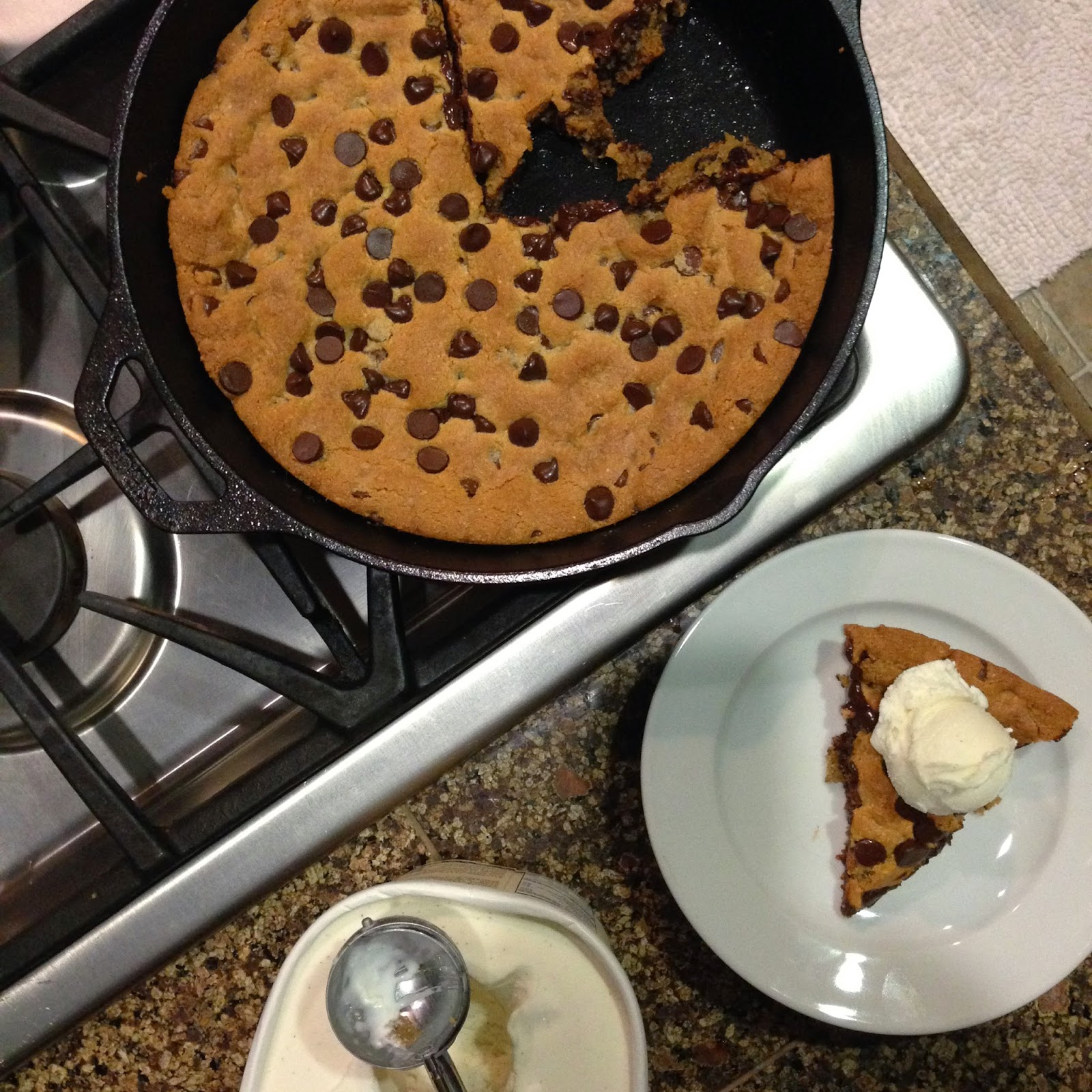 Grain-free egg-free Chocolate Chip Pizookie!