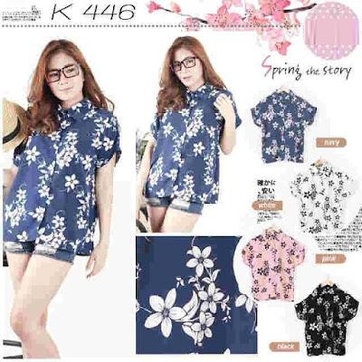 Atasan Flowery Shirt - 10472