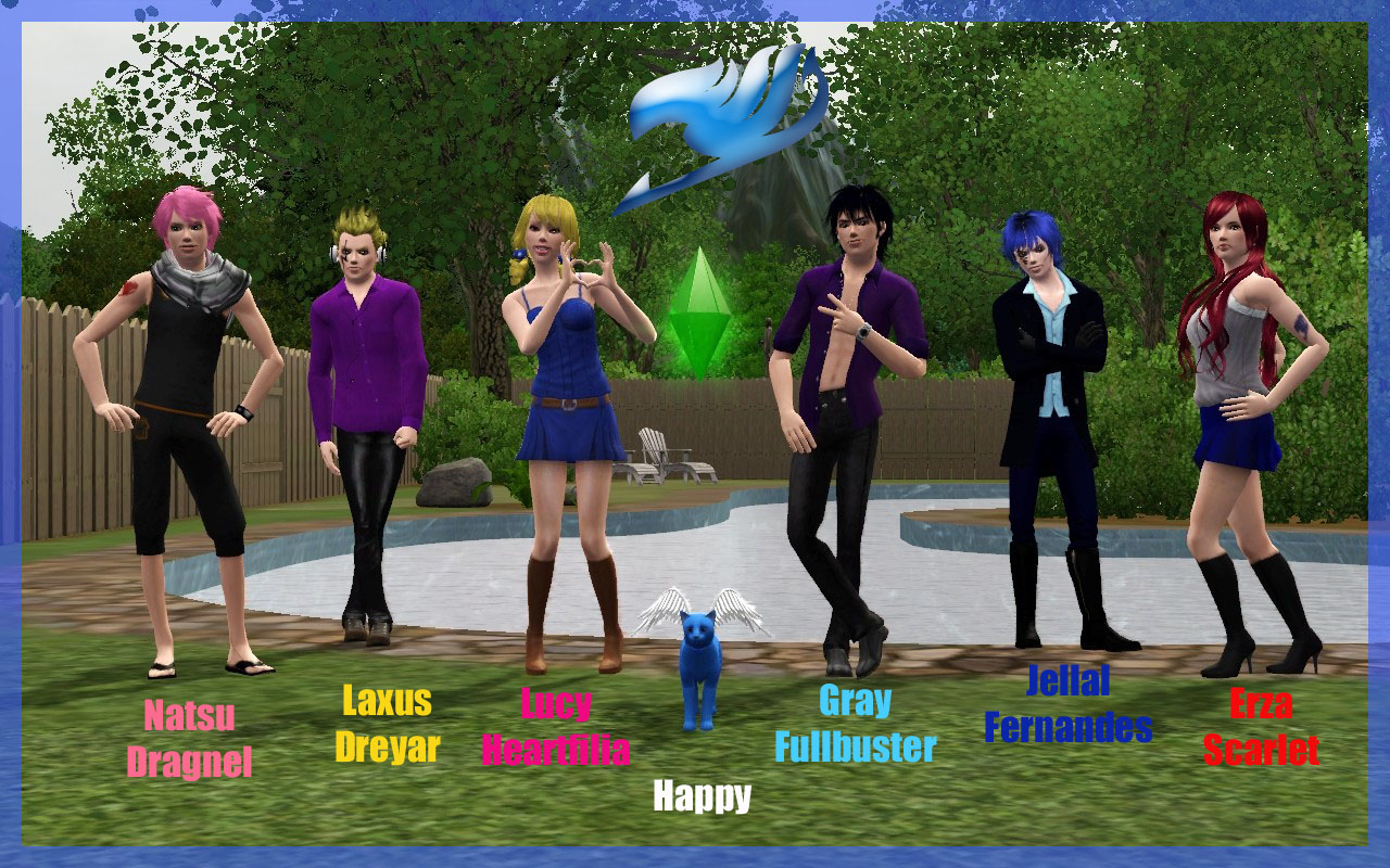 Sims 3 Anime Characters : Ng sims jellal fernandes fairy tail anime