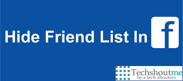Hide friend list in Facebook