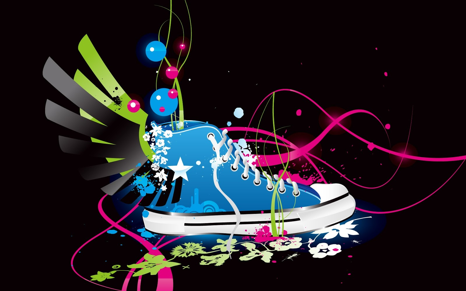 Blue Vector Shoe