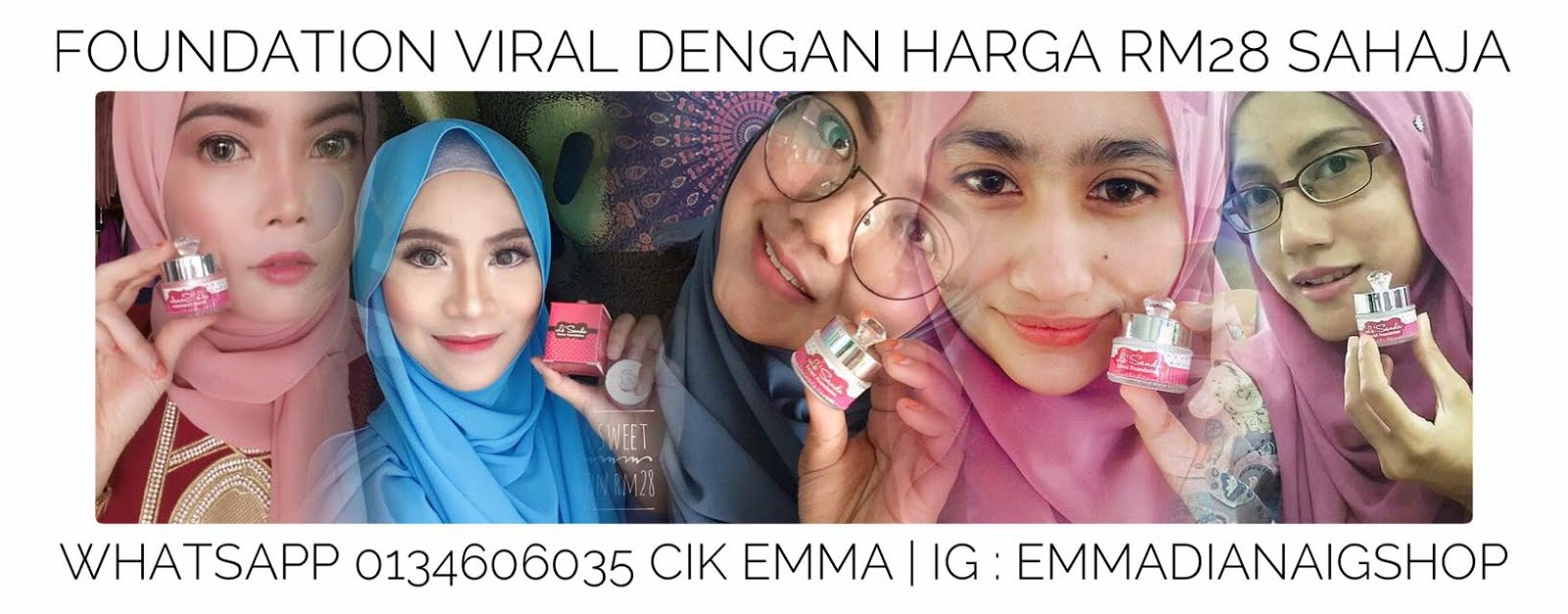 LE'SANDA SWEET FOUNDATION [ FOUNDATION VIRAL MASA KINI ]