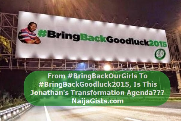 president jonathan campaign poster