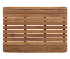 Teak Shower/Bath Mat with Rounded Corners