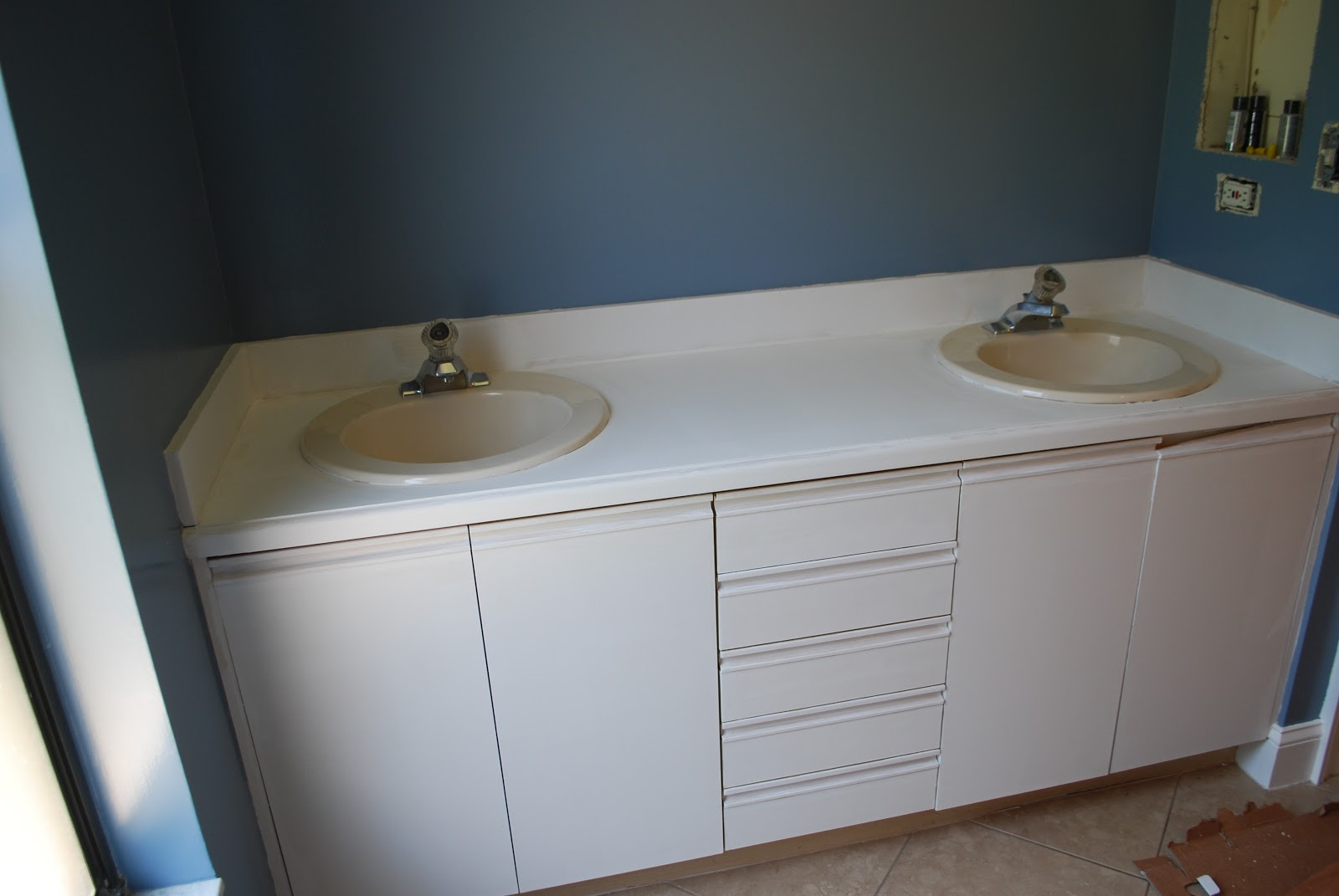 Faux Painting Bathroom Cabinets kara's korner: tutorial : how to paint bathroom countertops to
