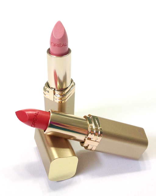 "L'Oréal ""Les Pinks Collection"" New Colour Riche Lipsticks - #135 Ballerina Shoes and #254 Everbloom"