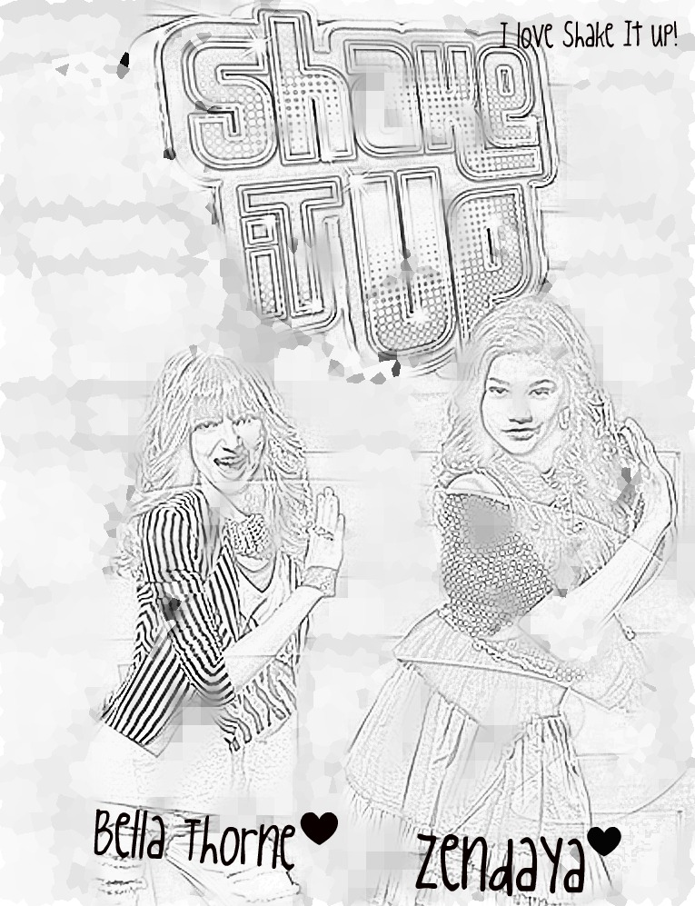 Shake It Up Disney Colouring Pages