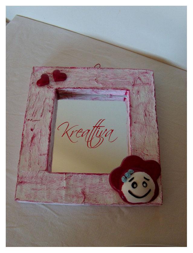 Come realizzare uno specchio in carta pesta con cuori in gesso kreattivablog - Carta a specchio ...
