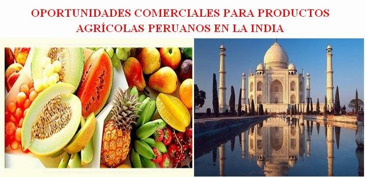 Oportunidades comerciales para productos agr colas - Productos de la india ...