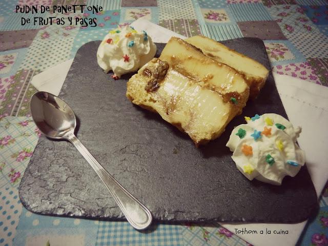 Pudin De Panettone De Frutas Y Pasas