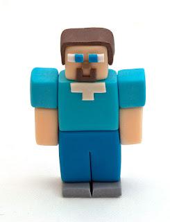 Minecraft junak iz tičino mase - Minecraft fondant