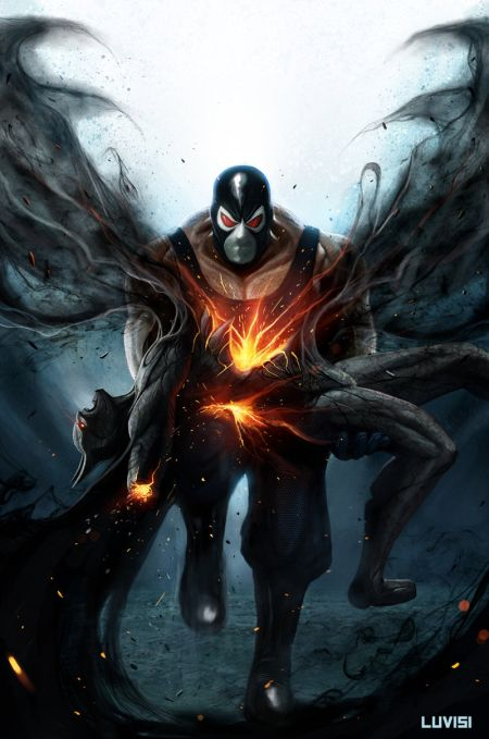 Dan Luvisi deviantart ilustrações digitais fantasia filmes quadrinhos cultura pop Bane e a coluna partida de Batman