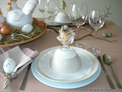 decoracion mesa Pascua 2