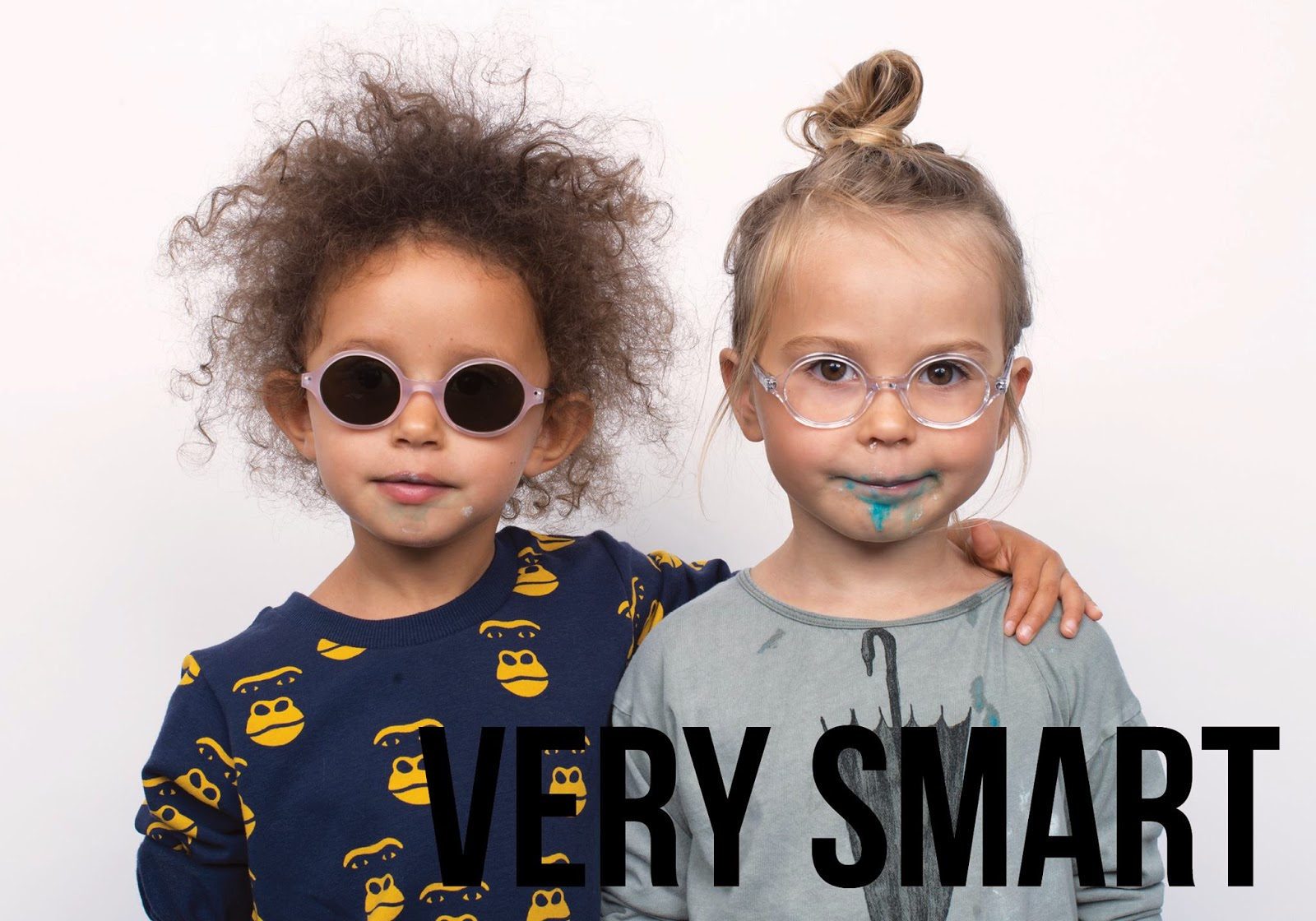 Transparent kids glasses by Very French Gangsters and Bobo Choses/Mini Rodini styles - Autumn-Winter 2014/15