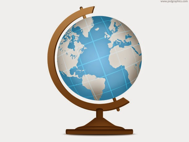 School Globe Geography Icon PSD