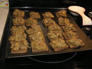 "Rye Bread Appetizer a.k.a. ""Barf Bites"""