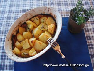 Υπέροχες πατάτες φούρνου με πορτοκάλι κ δεντρολίβανο-Delicious orange rosemary potatoes