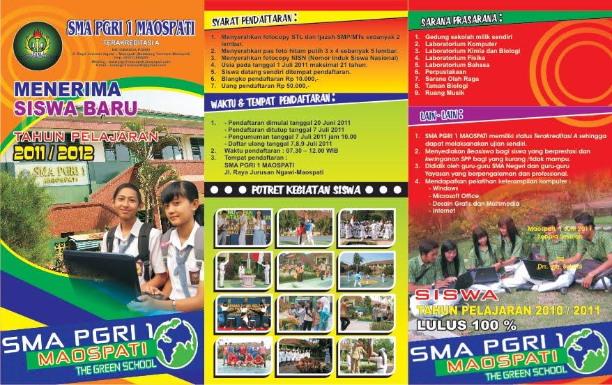 contoh brosur sekolah SMA bagus