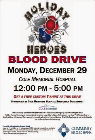 12-29 Blood Drive Cole Memorial