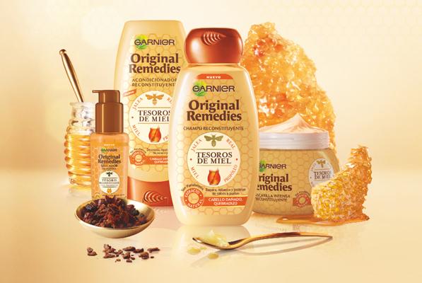 Garnier Original Remedies Tesoros de miel champú acondicionador mascarilla sellador