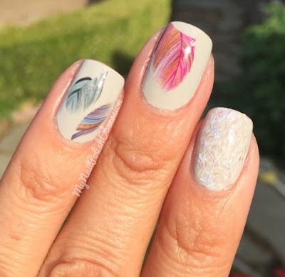 Lady Queen Colorful Feather Water Decals #1724
