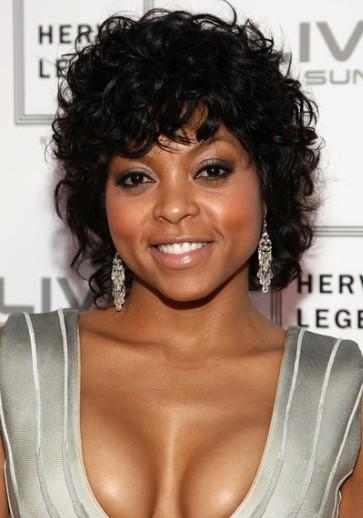Black Women Short Curly Hair with Bangs