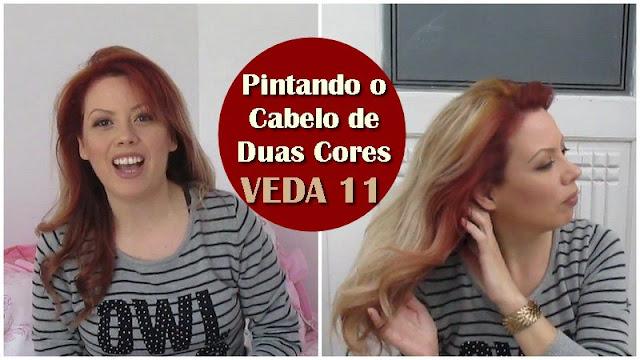 Pintando o Cabelo de ruivo, pintando o cabelo de loiro, pintando o cabelo de duas cores, pintando o cabelo de vermelho. Cabelo bicolor, cabelo colorido, cabelo de duas cores