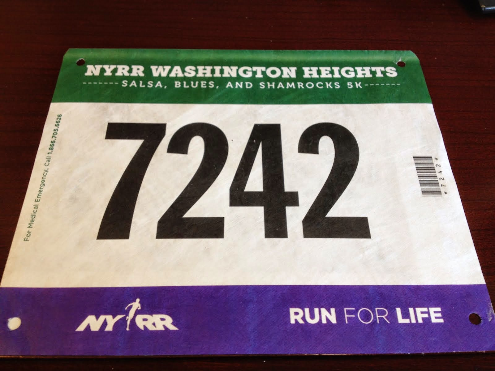 Washington Heights Salsa, Blues and Shamrocks 5K