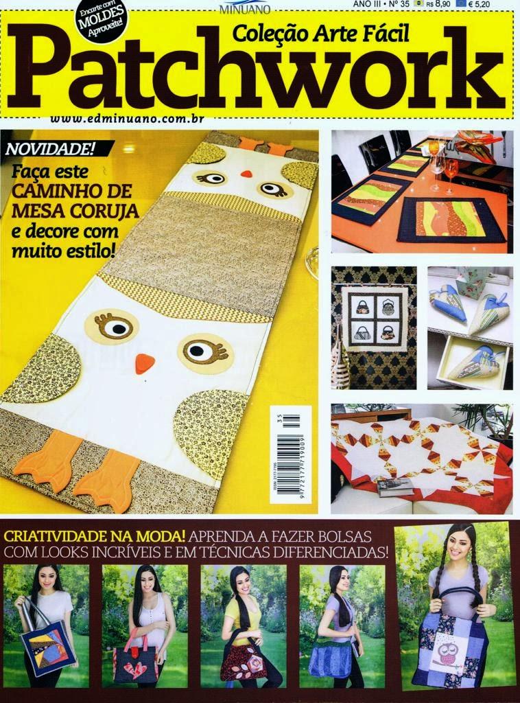 Maria Adna publica onze trabalhos na revista Patchwork número 35 da Editora Minuano
