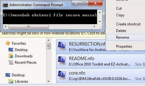 windows tips perintah dos cara mengubah ekstensi file secara massal sekaligus