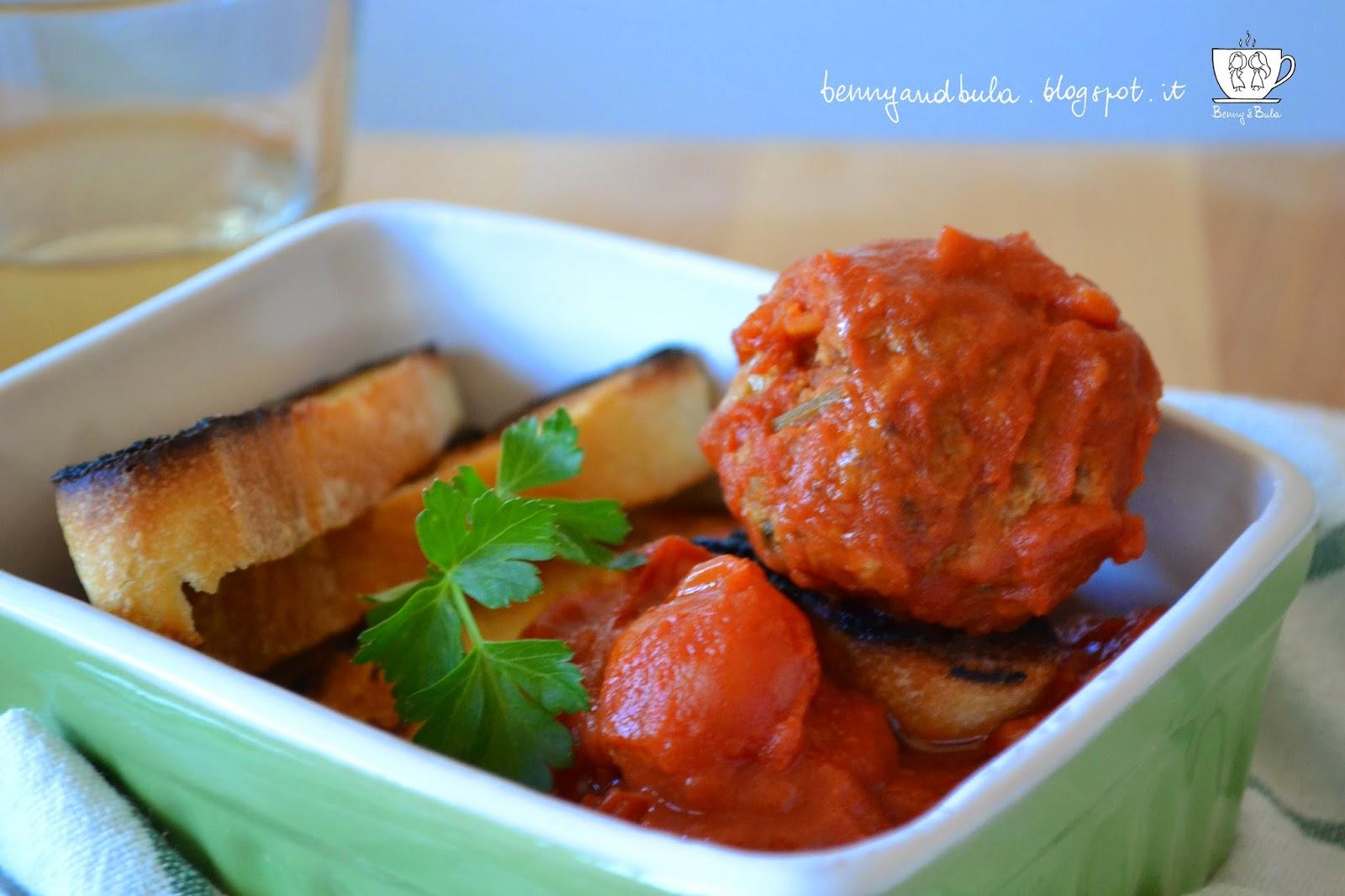 ricetta polpette al sugo/ meat balls with tomato sauce recipe