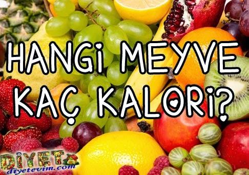 meyve kalorileri tablosu
