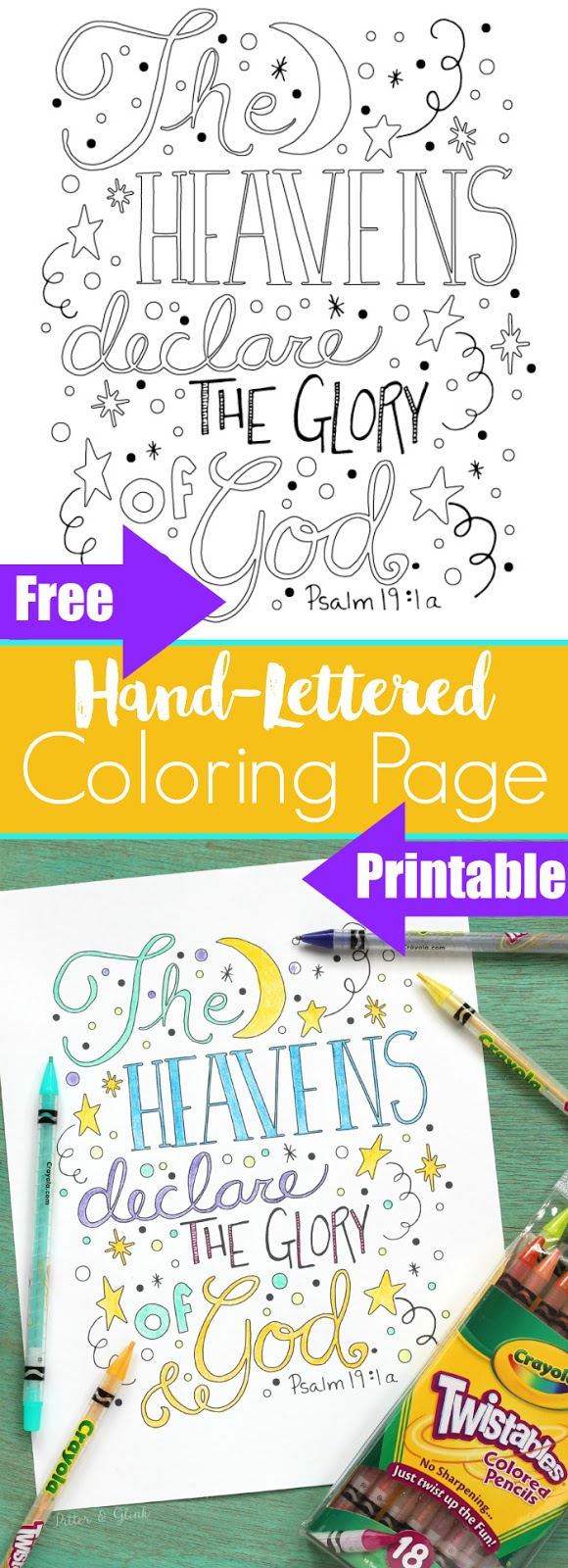 PitterAndGlink: Free Hand-Lettered Bible Verse Coloring ...