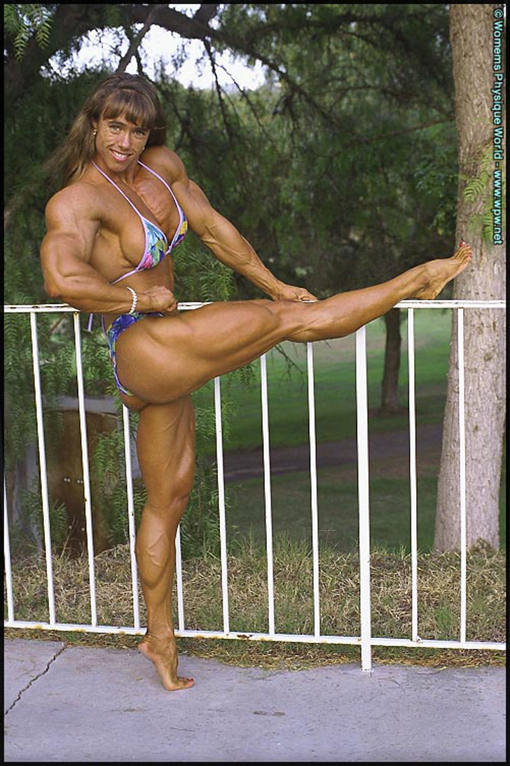 Denise Hoshor Models Her Great Legs And Shredded Muscles In A Bikini