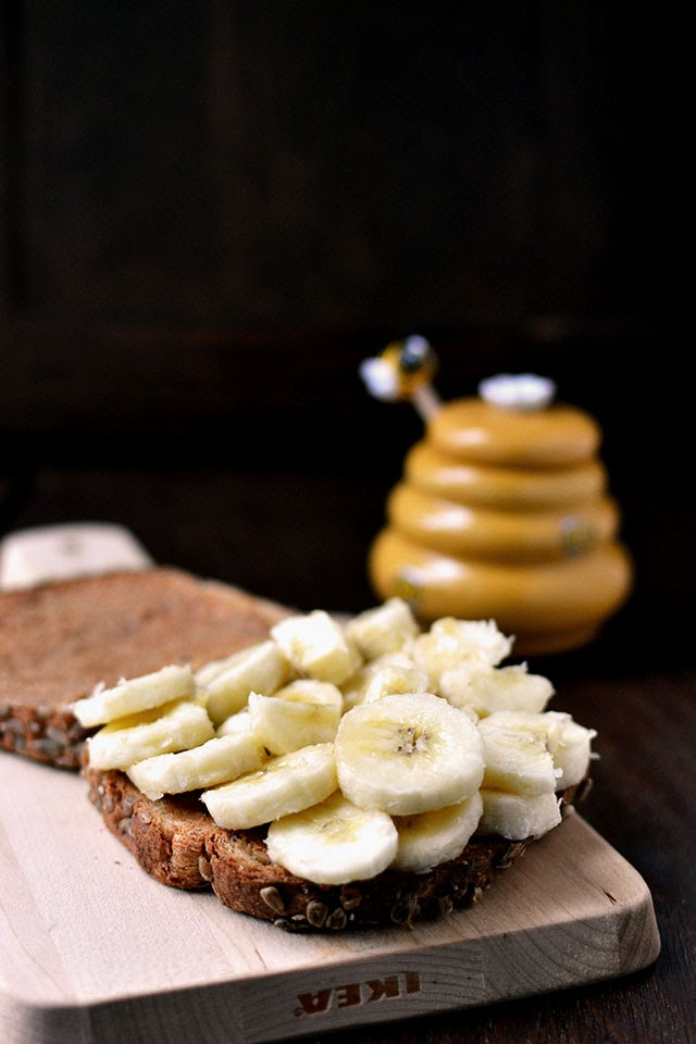 Banana and Peanut Butter Sandwich