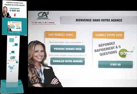 Borne interactive Crédit Agricole Centre-Est
