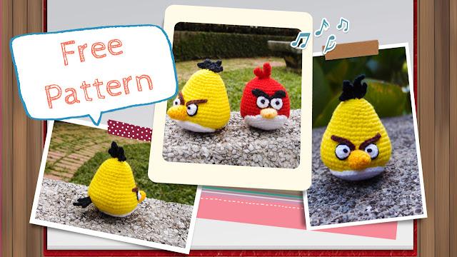 crocheted yellow angry bird amigurumi pattern