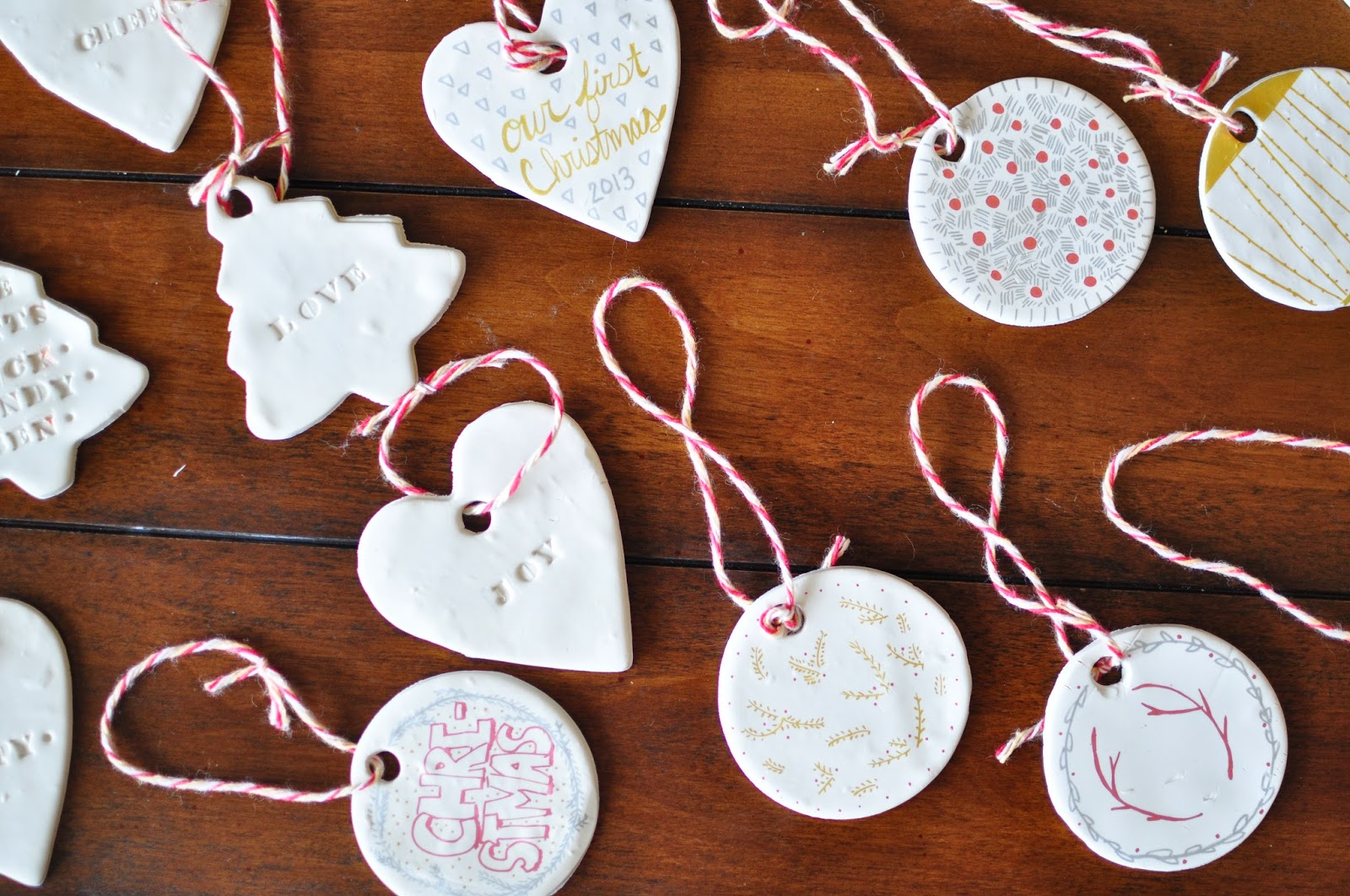 Clay Christmas Ornaments / DIY Cheap U0026 Easy