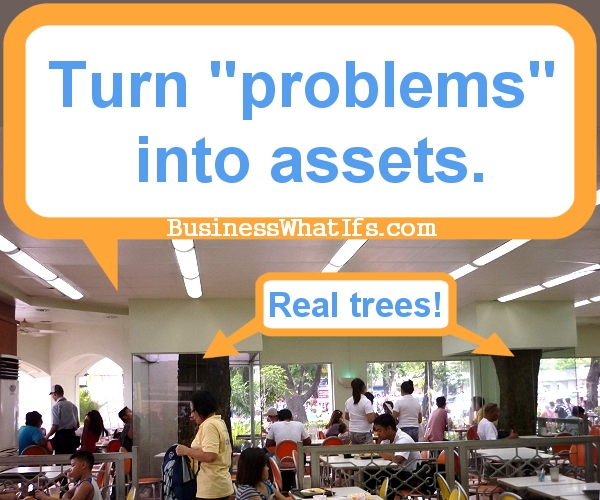 Indoor Trees At Jollibee
