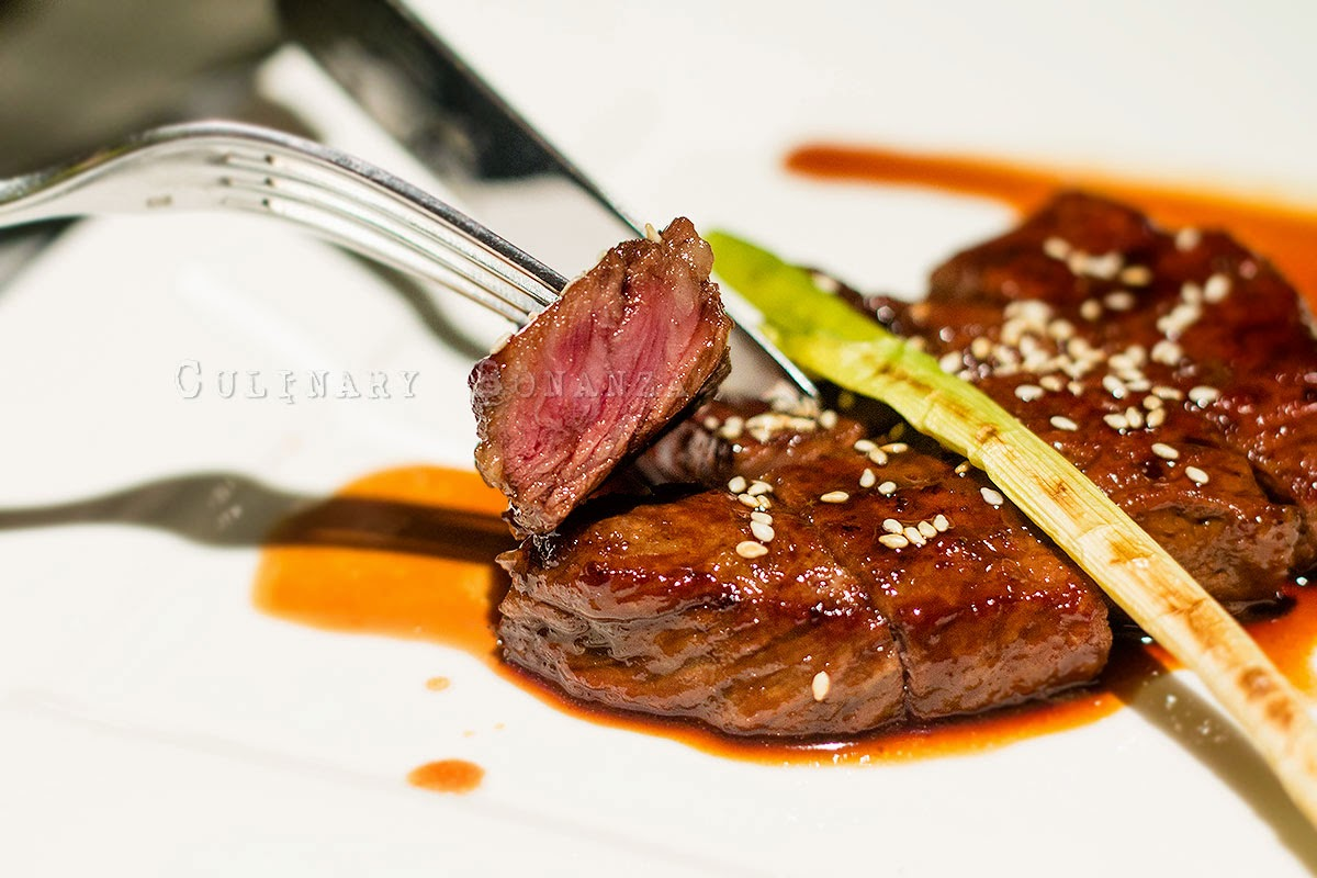 Spicy Beef Tenderloin (Wagyu) - with sesame & sweet sauce