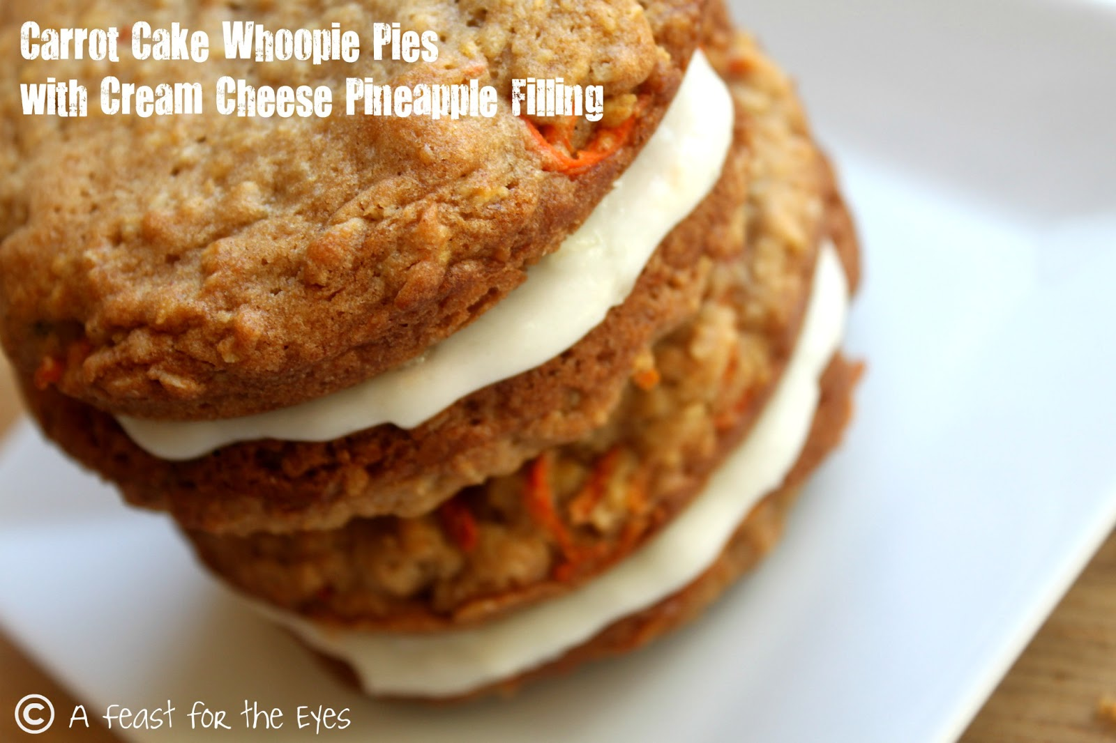 A Feast for the Eyes: Carrot Cake Whoopie Pies with a ...