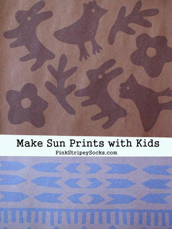 DIY Homemade Sun prints from construction paper