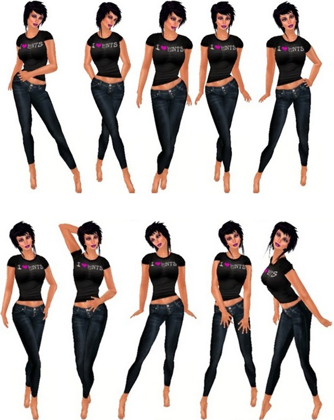 Pictures of model poses