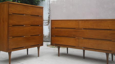 Set Of Danish Walnut Dressers