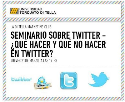 Seminario sobre Twitter en la Universidad Torcuato Di Tella