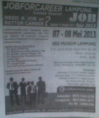 Lampung Job Fair 2013 by Jobforcareer.com