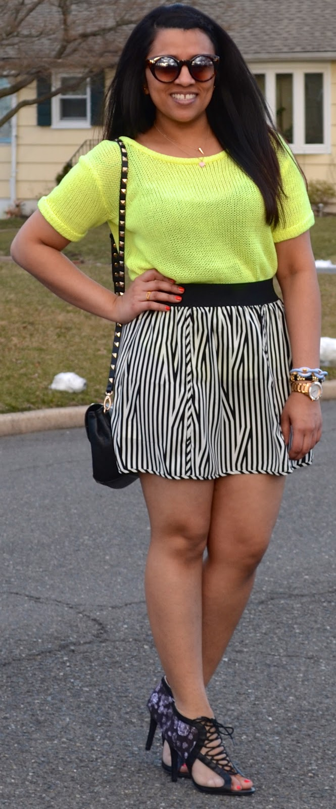 65c0ac2ec5 Outfit  Black   White Stripes + Neon - Jet Set Dhruvi