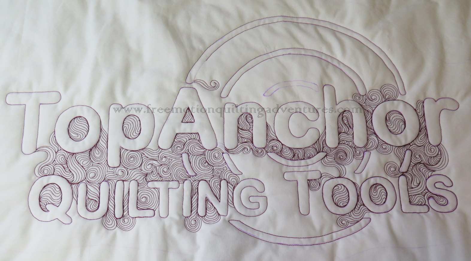Top Anchor Quilting Tools FMQ Banner with Ruler Work