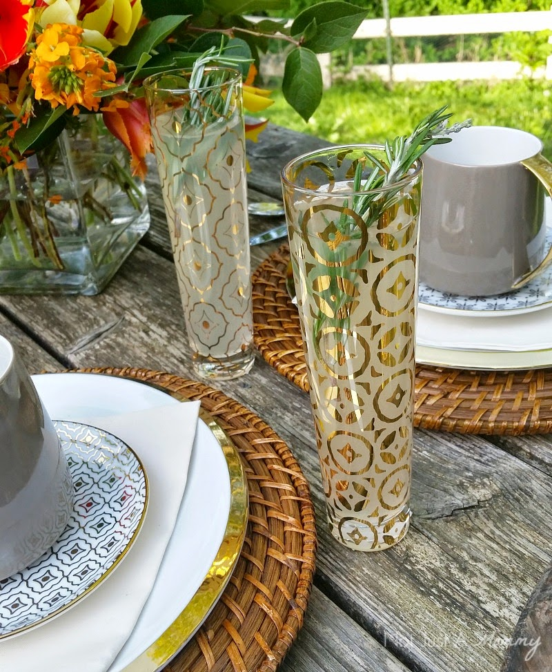 Mother's Day Brunch Tablescape flutes