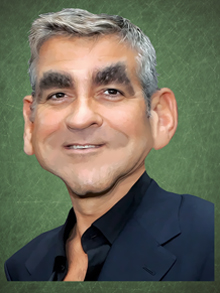 george clooney, george, clooney, caricatura, caricature, cartoon
